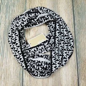 New MICHAEL KORS black and cream infinity  scarf